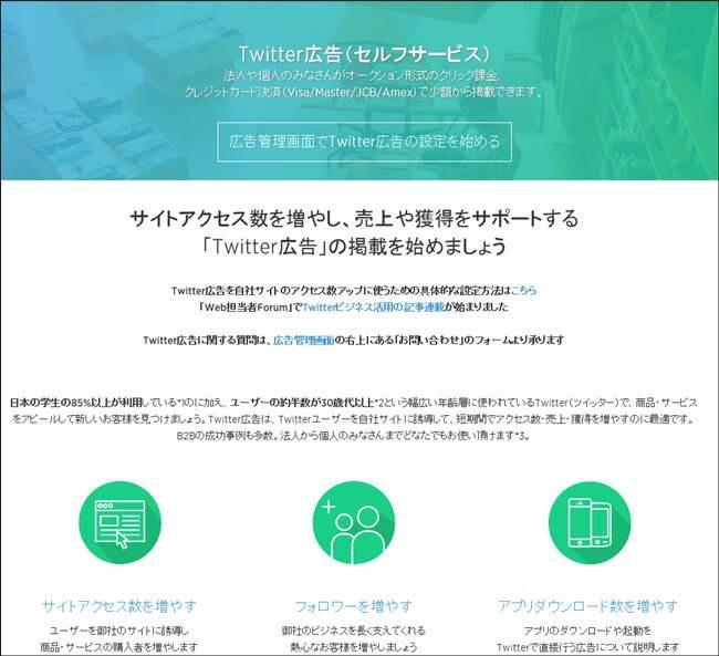 Twitter広告セルフサービス式